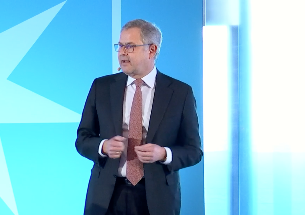 Maersk CEO Soren Skou at the company's analyst day in Copenhagen ( Photo: Maersk )