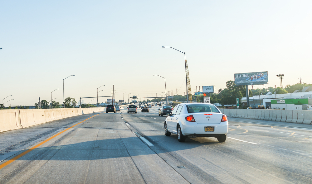 A test of vehicles along I-95 in Pennsylvania, Delaware and Maryland is trying to verify the viability of mileage-based user fee programs. ( Photo: Shutterstock )