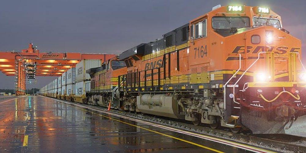 A BNSF intermodal terminal ( Photo: BNSF )