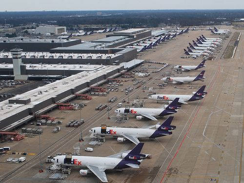 FedEx has it's largest hub and corporate headquarters in Memphis