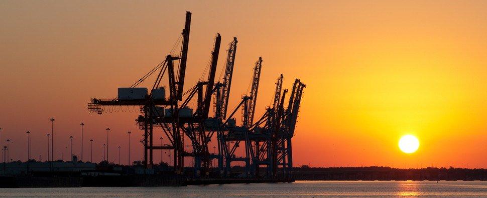 Gantry cranes at the Port of Virginia ( Photo: Port of Virginia )