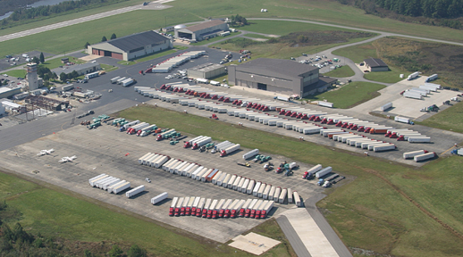 Hurricane relief site (Source: FreightWaves file photo)