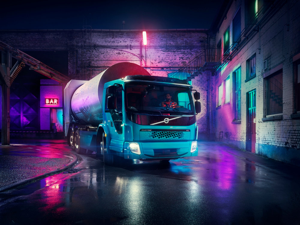 The Volvo FE Electric, seen here in a promotional image, will go on sale in Europe next year. A North American truck based on the European model's technology, will come to North America in 2020.
