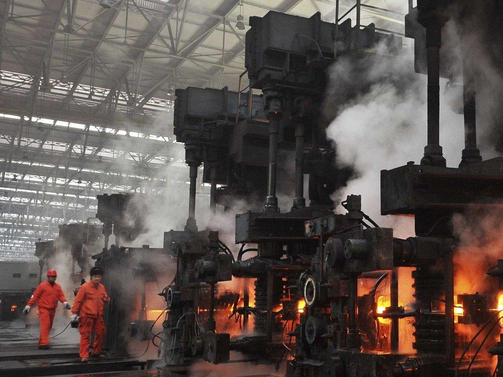 Steel works in Dalian, China