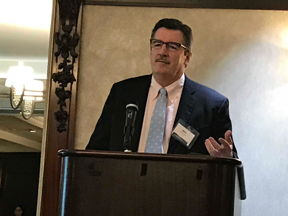 Mike Lacey, President North America-Solvay, speaking at the Railroads + Shippers = Solutions conference in Washington on October 3.