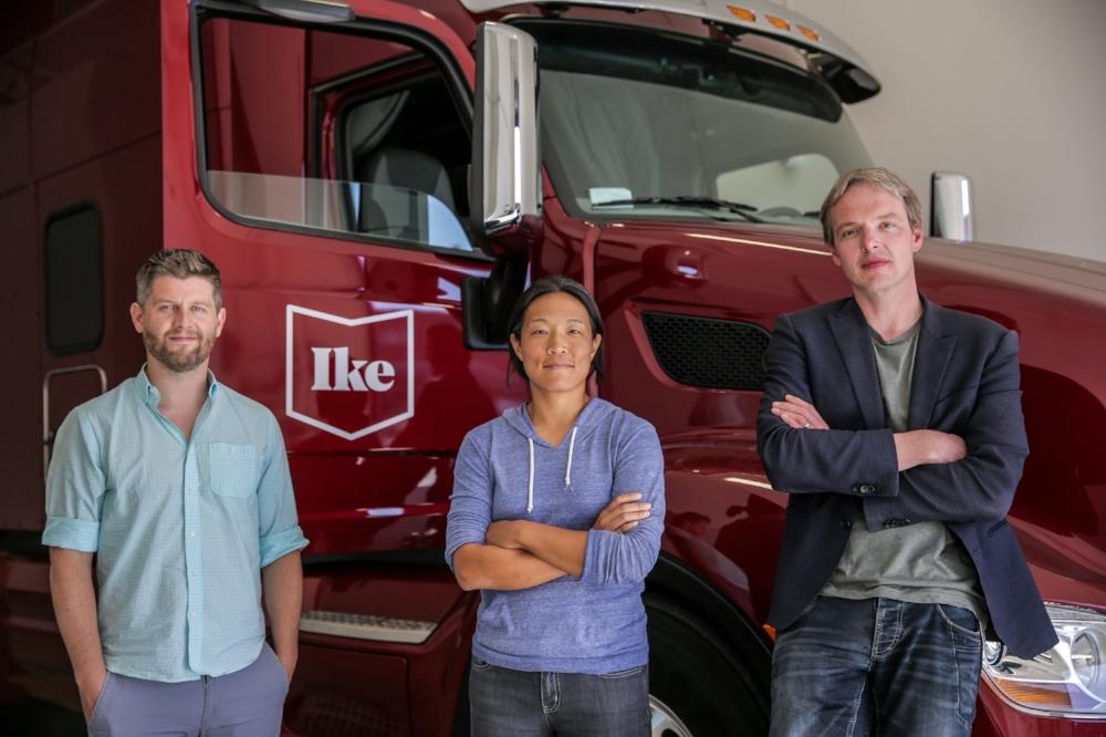 The executive leadership of Ike: Alden Woodrow, Nancy Sun, and Jur van den Berg.  (Photo: Ike)