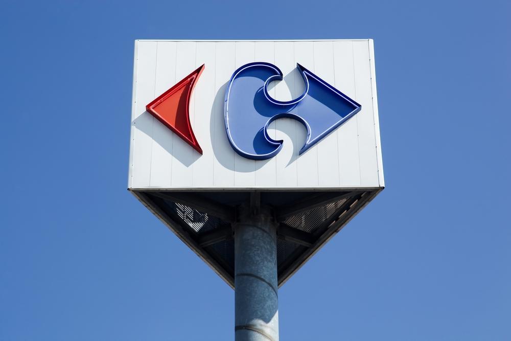 Carrefour's logo. (Image: Shutterstock)