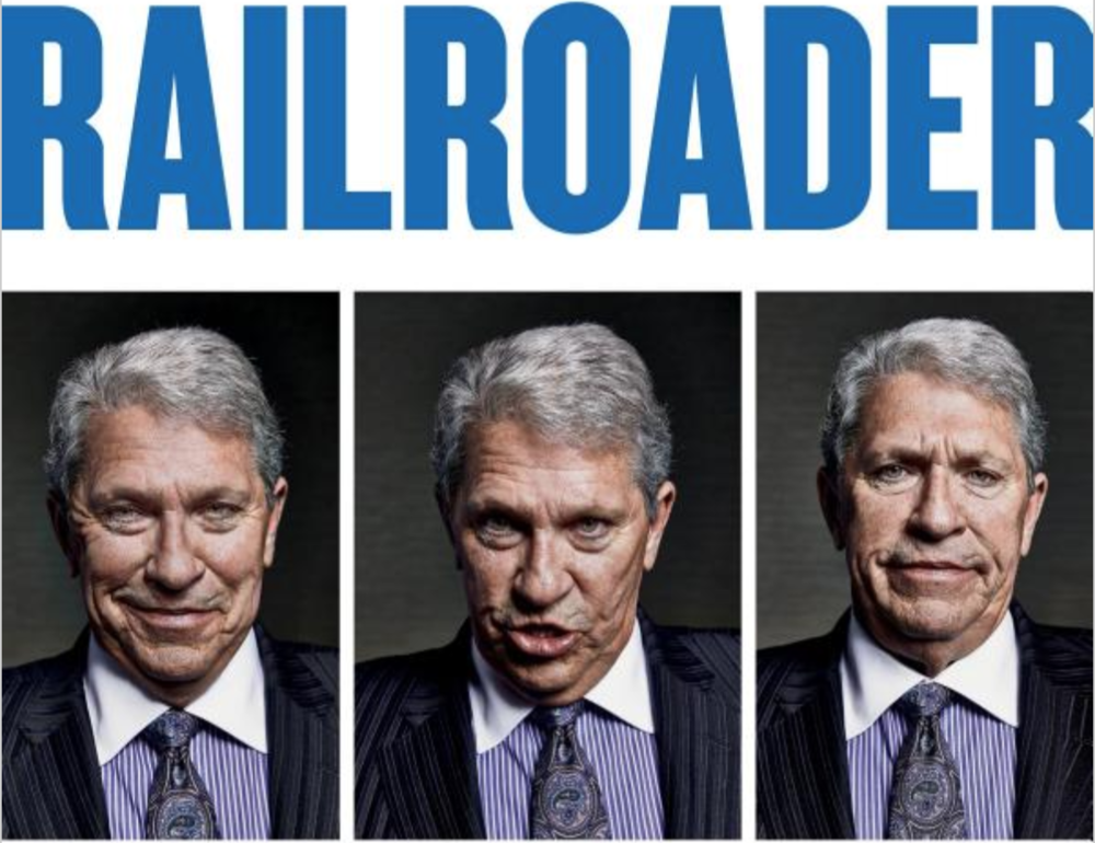 The cover of Green's  Railroader .