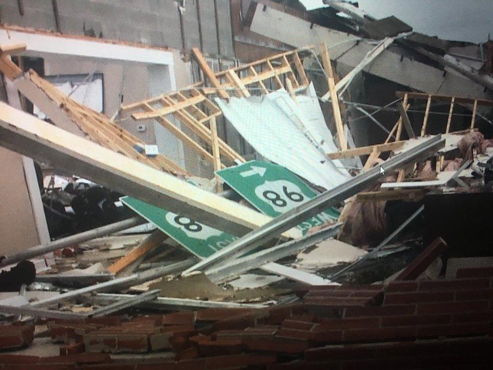 Hurricane Michael damage, Panama City, FL. October 10, 2018.  (Photo: Ryan Kruger on Twitter)