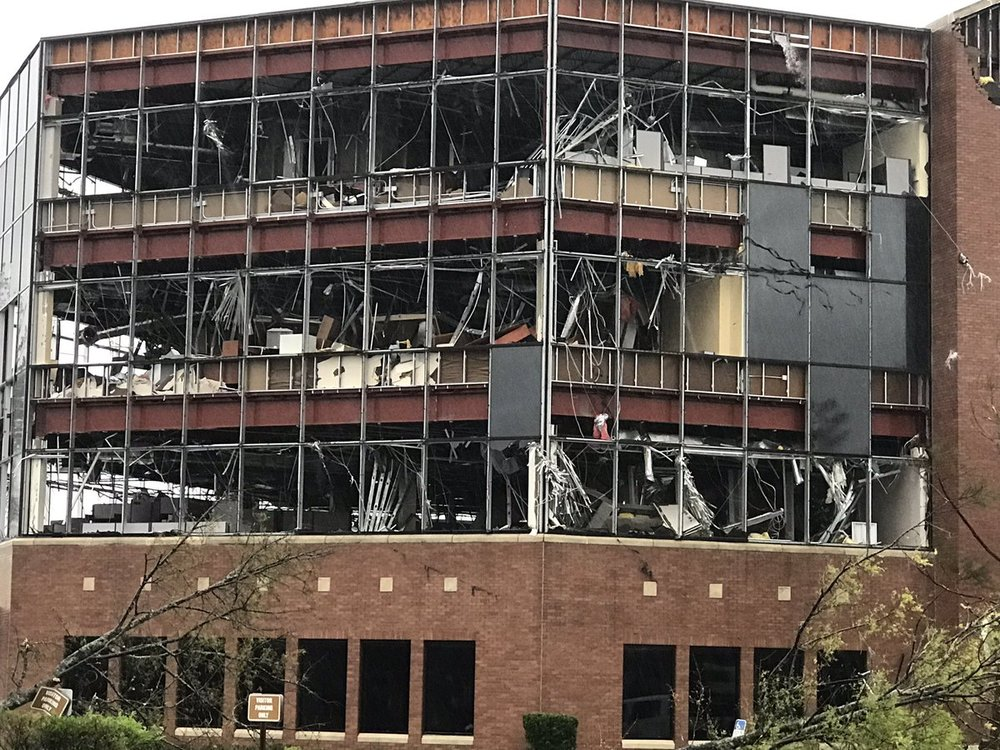 Hurricane Michael damage, Panama City, FL. October 10, 2018.  (Photo: Jeff Gammons on Twitter)