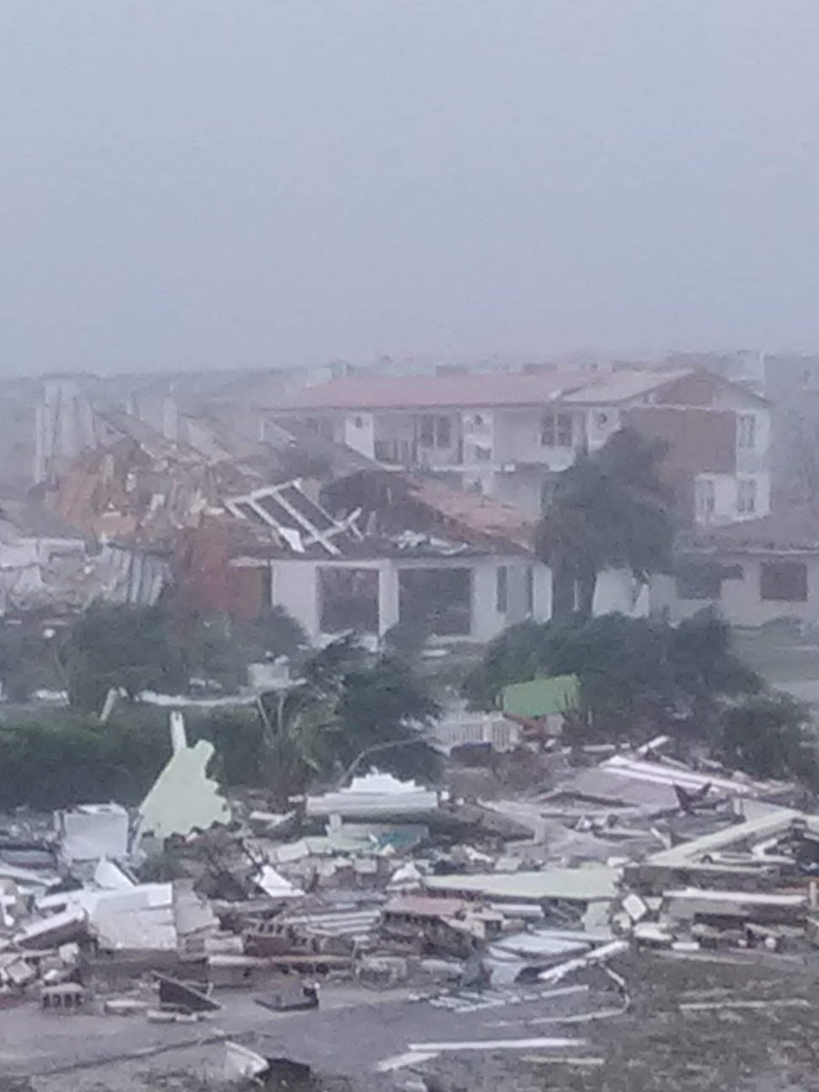 Hurricane Michael damage, Mexico Beach, FL. October 10, 2018.  (Photo: Blake Stevens on Twitter)