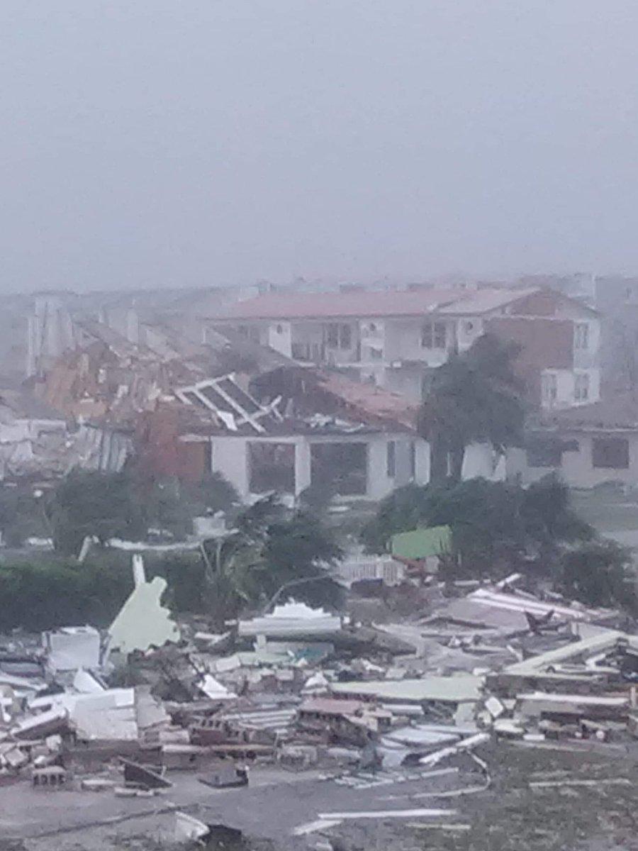 Hurricane Michael damage, Mexico Beach, FL. October 10, 2018.  (Photo: Blake Stevens on Twitter)
