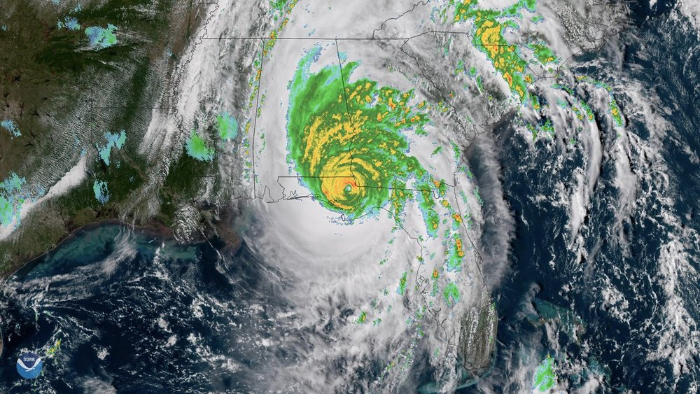 Hurricane Michael shortly after landfall in Florida on Wednesday afternoon, October 10, 2018.  (Photo: NOAA)