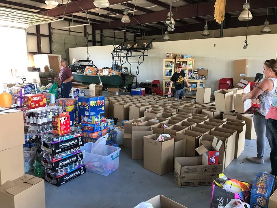Hurricane Michael relief donation center in Calhoun County, Florida.  (Photo: Calhoun County EMA Facebook)