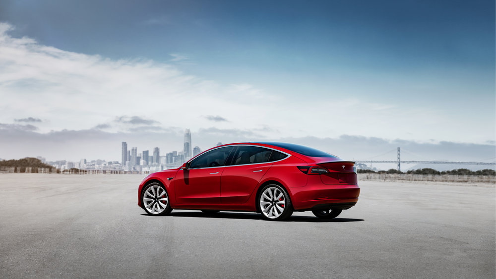 The performance version of the Model 3. ( Photo: Tesla )