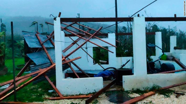Damage on the island of Saipan from Super Typhoon Yutu, October 25, 2018.  (Photo: Glen Hunter)