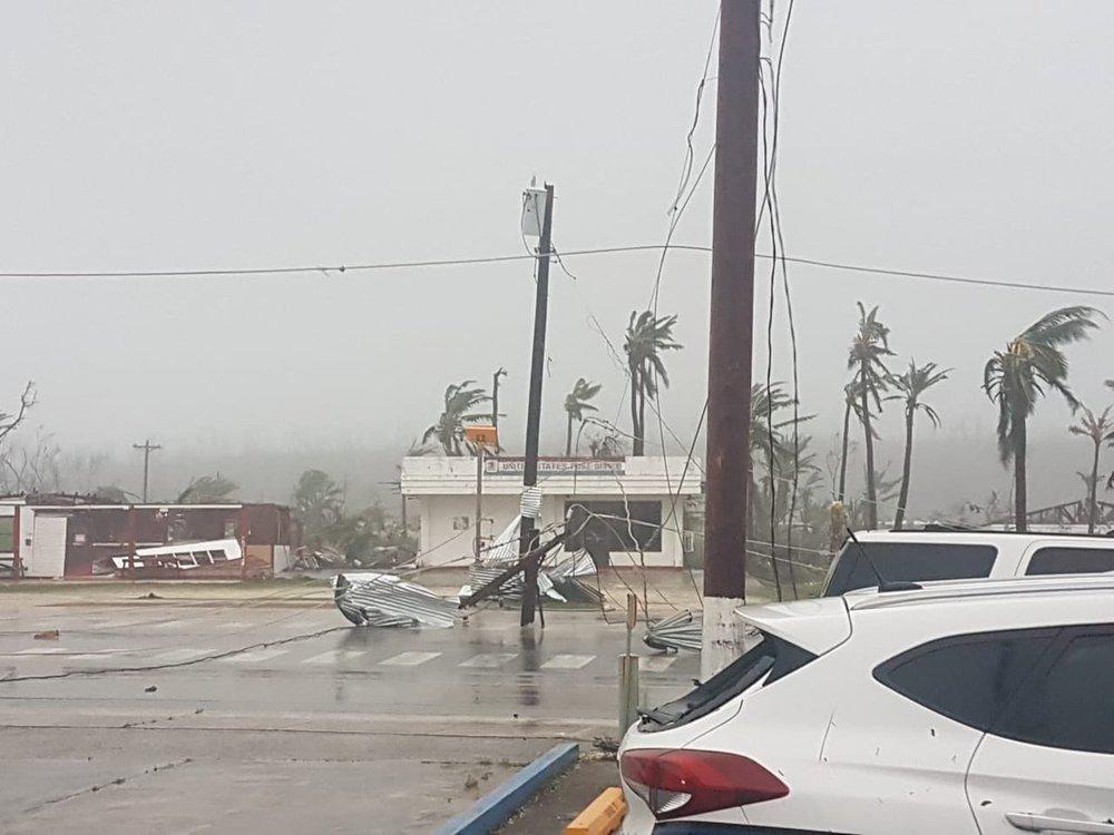 Damage on the island of Tinian from Super Typhoon Yutu, October 25, 2018.  (Photo: @emuna670 on Twitter)