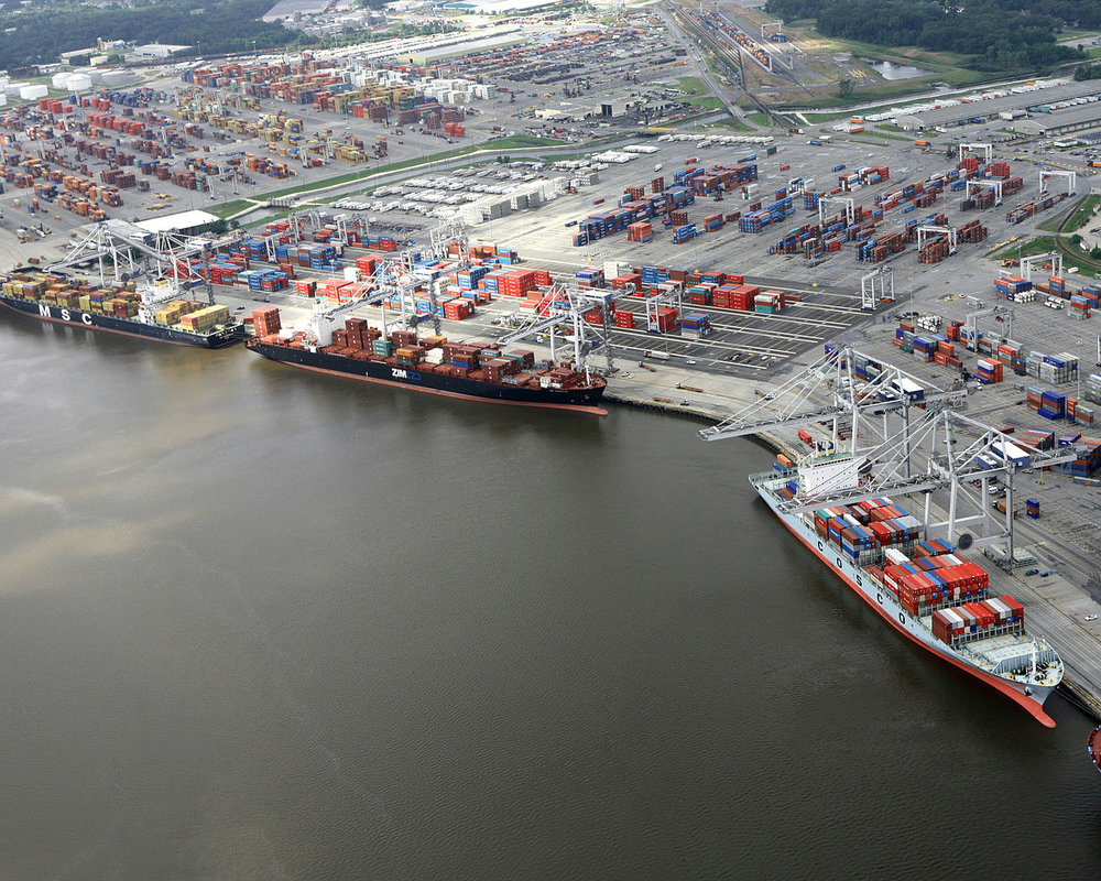 The intermodal yard at the Georgia Ports in Savannah. ( Photo: Wikimedia Commons )