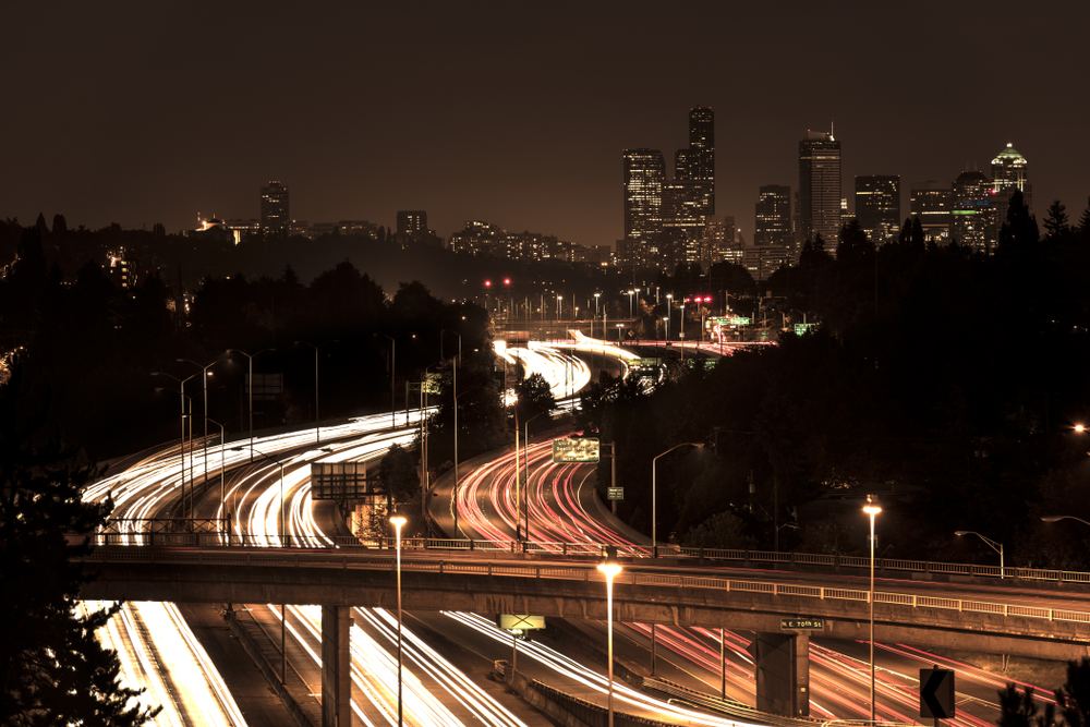 I-5 leading into downtown Seattle. ( Photo: Shutterstock )