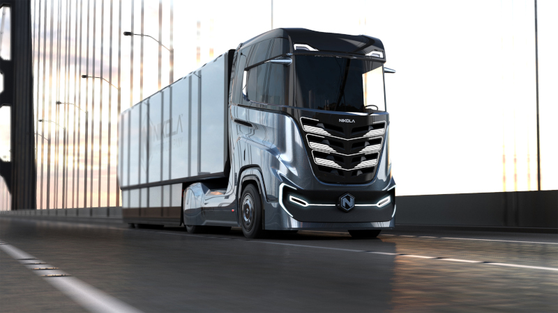 "Nikola Motor will begin testing the Nikola Tre ""around 2020"" in Norway. The hydrogen-electric Tre will launch in Europe in 2022-2023 timeframe. ( Photo: Nikola Motor )"