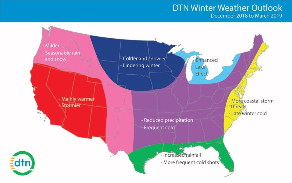 Winter outlook.  (Source: DTN)