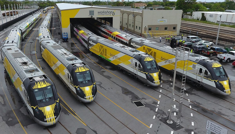 Richard Branson's Virgin Group has taken a minority interest in Brightline, a privately owned and operated commuter train service in Florida. ( Photo: Wikimedia Commons/Patrickhamiltonbrightline )