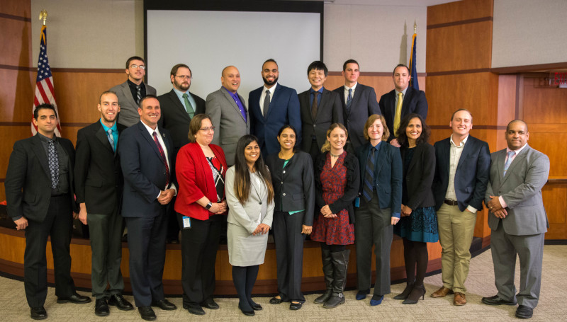 The 18 graduates of UST Global's Step It Up America program who are now working for Penske Truck Leasing in Reading, PA, as part of the company's IT department. ( Photo: Penske Truck Leasing )