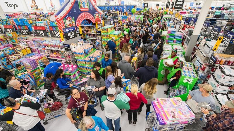 Scene at a Walmart on Black Friday ( Photo: Walmart )