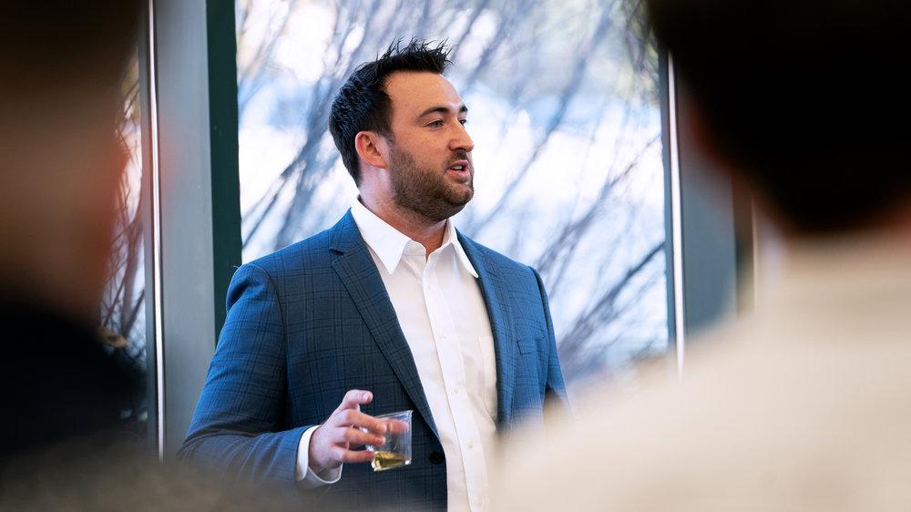 Arrive CEO Matt Pyatt addresses his Chattanooga team. ( Photo: Lexi Alvidrez / FreightWaves )