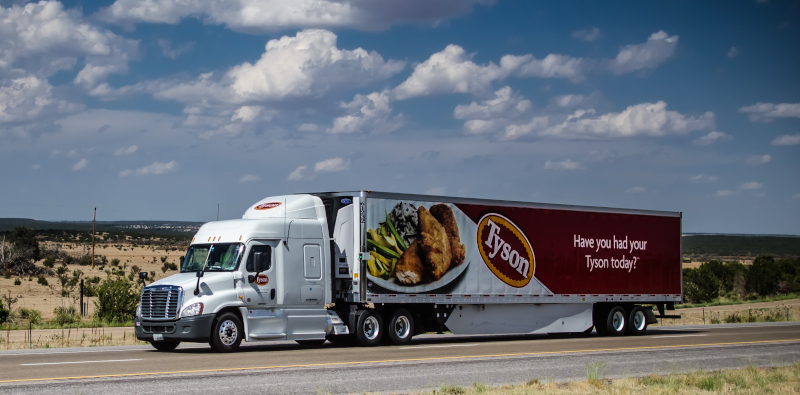 Tyson Foods will be testing a tractor that will utilize Achates Power's opposed-piston engine technology that is said to reduce NOx emissions by 90% from current standards. ( Photo: Truckstockimages.com )