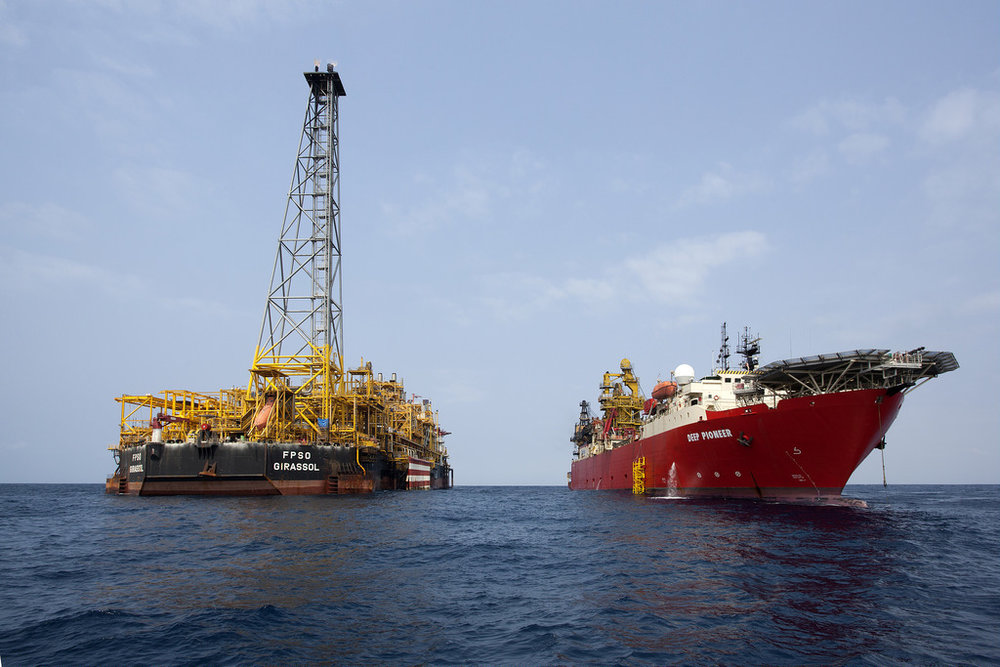 An offshore oil platform in Angolan waters. ( Photo: Total Global )