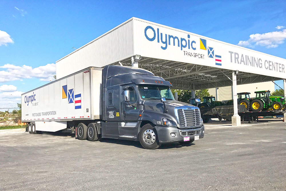 Monterrey, Mexico-based Olympic Transport is one of 41 carriers participating in the cross-border trucking program. ( Photo: Olympic Transport )