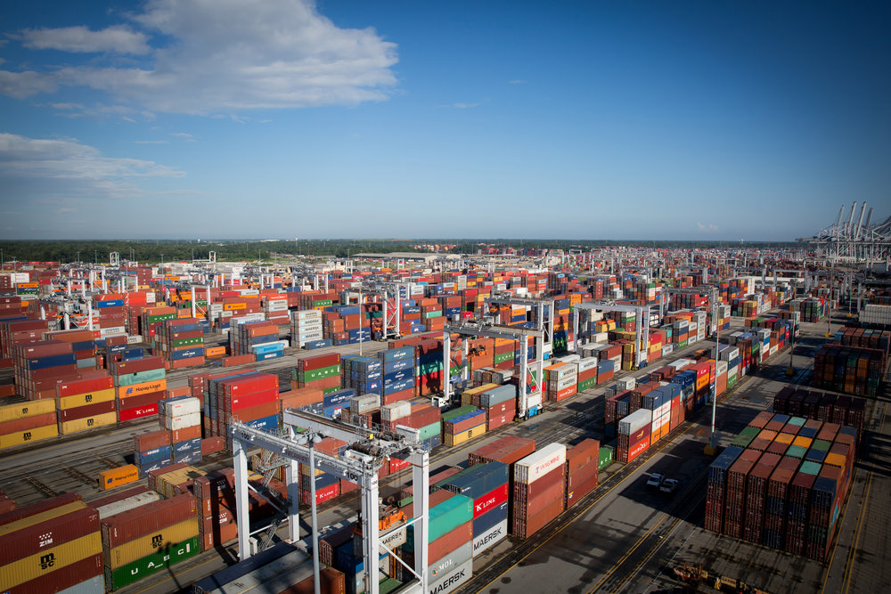 Port of Savannah's Garden City Terminal is on track to see record container volumes (Photo: GPA)