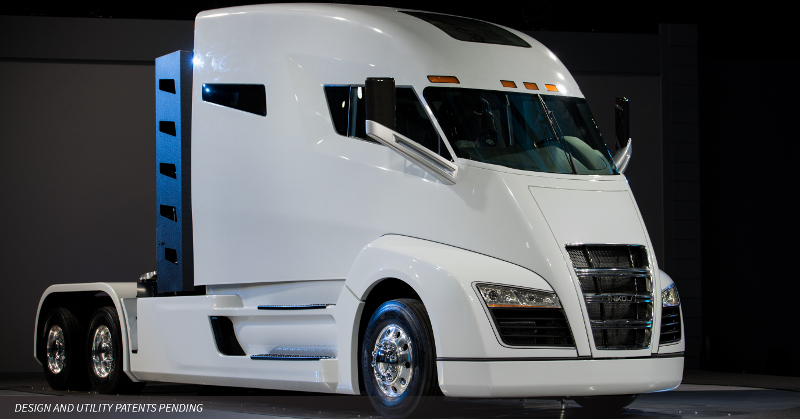 The Nikola Motor tractor is powered by a hydrogen-electric engine. Expected to be formally introduced at Nikola World next spring, the tractor has earned the company Number 24 on the FreightWaves' Research Institute Freight.Tech 25.