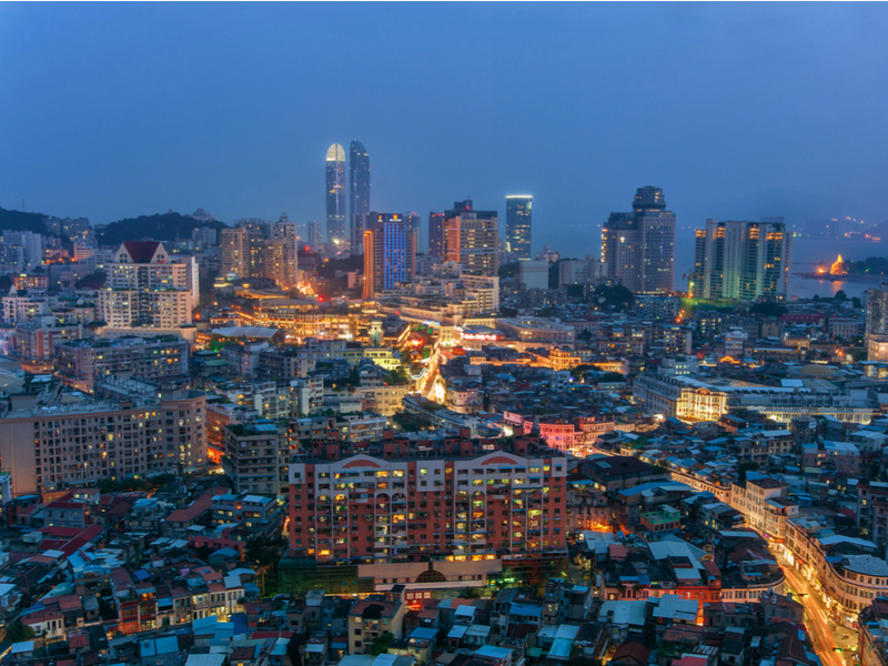 China's government is making the port-city of Xiamen, in the south-east of the country, one of the main nodes on the 21st Century version of the Silk Road. Pictured: Zhongshan Road runs through central Xiamen, which is 1,065 miles south-by-east from China's capital, Beijing.  (Photo: Shutterstock).