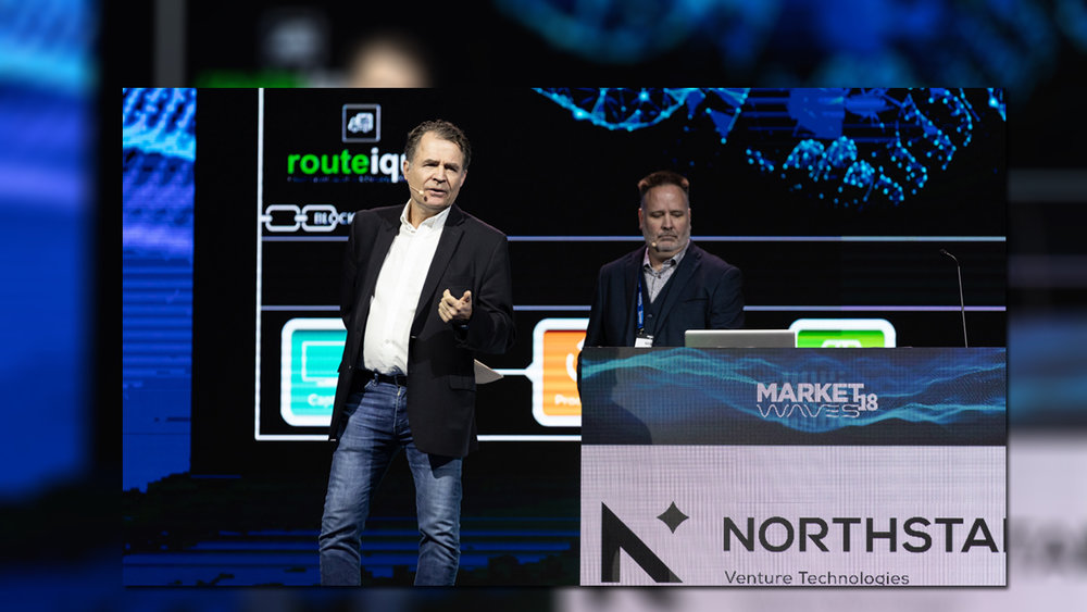 L to R: Bill McGraw of Northstar Ventures and Mike Allen of Routeique
