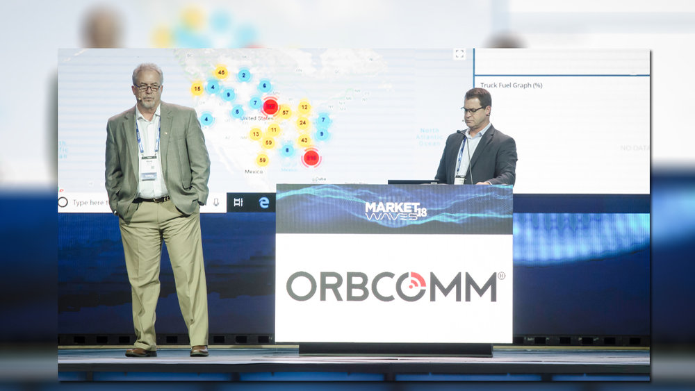 L to R: Mark Spicer and Chris Corlee of Orbcomm.