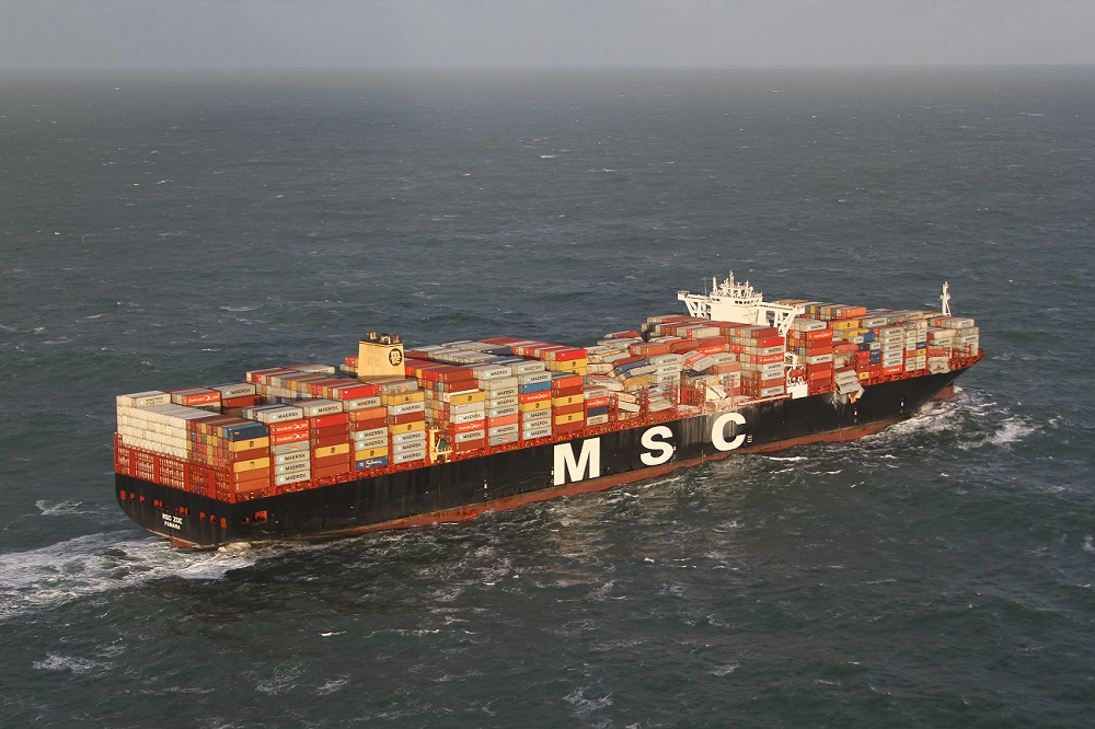 MSC Zoe was hit by heavy winds on 2 January causing cargo to be lost overboard and stoking fears of environmental damage. Credit: The Netherlands Coastguard.
