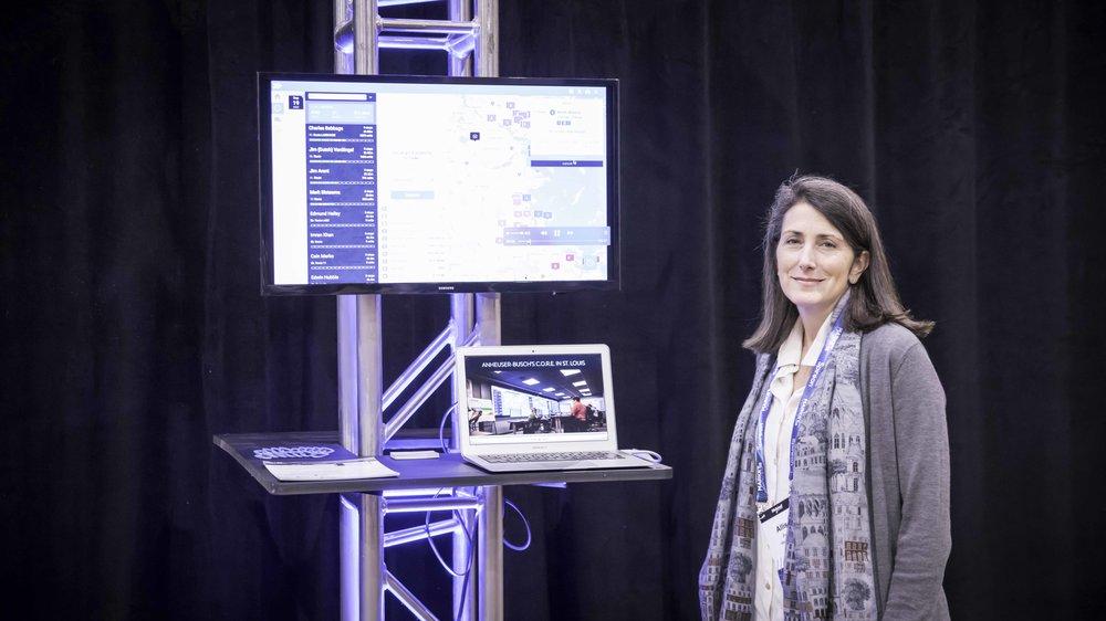 Allison Parker, VP of Marketing at Wise Systems presenting at MarketWaves18