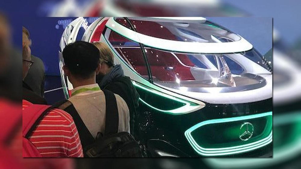 The VisionUrbanetic can be used as passenger or cargo transport, CES2019 (Photo, Linda Baker)