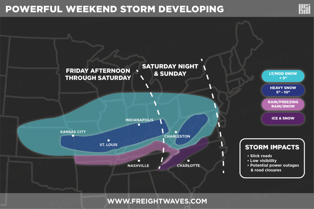 """ESTIMATES FOR WEEKEND STORM. POCKETS OF 12"""" SNOW TOTALS ARE POSSIBLE IN THE DARK BLUE AREAS."""