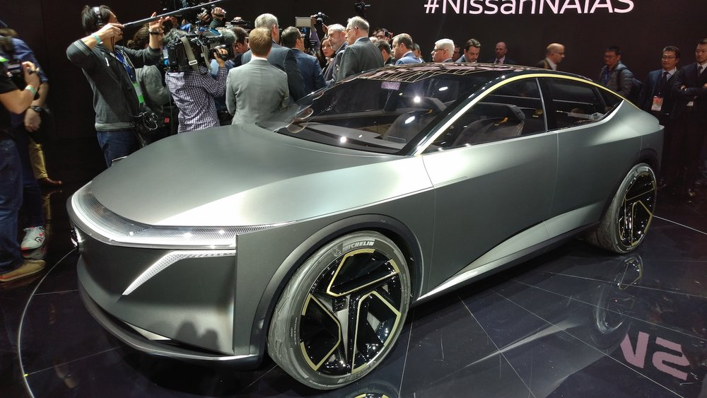 The Nissan IMs electric vehicle concept drew raves from those in attendance at the Detroit Auto Show, but it is only one of several concept electric vehicles on display. ( Photo: Brian Straight/FreightWaves )