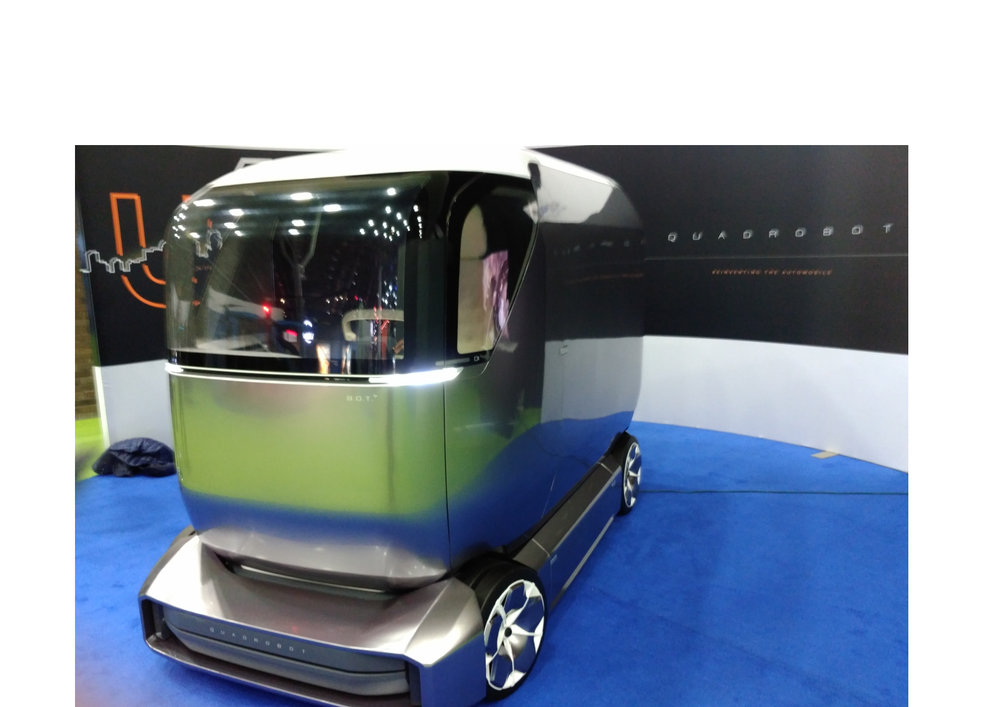 The Quadrobot is a modular design autonomous delivery vehicle, launching this year in both China and the U.S.