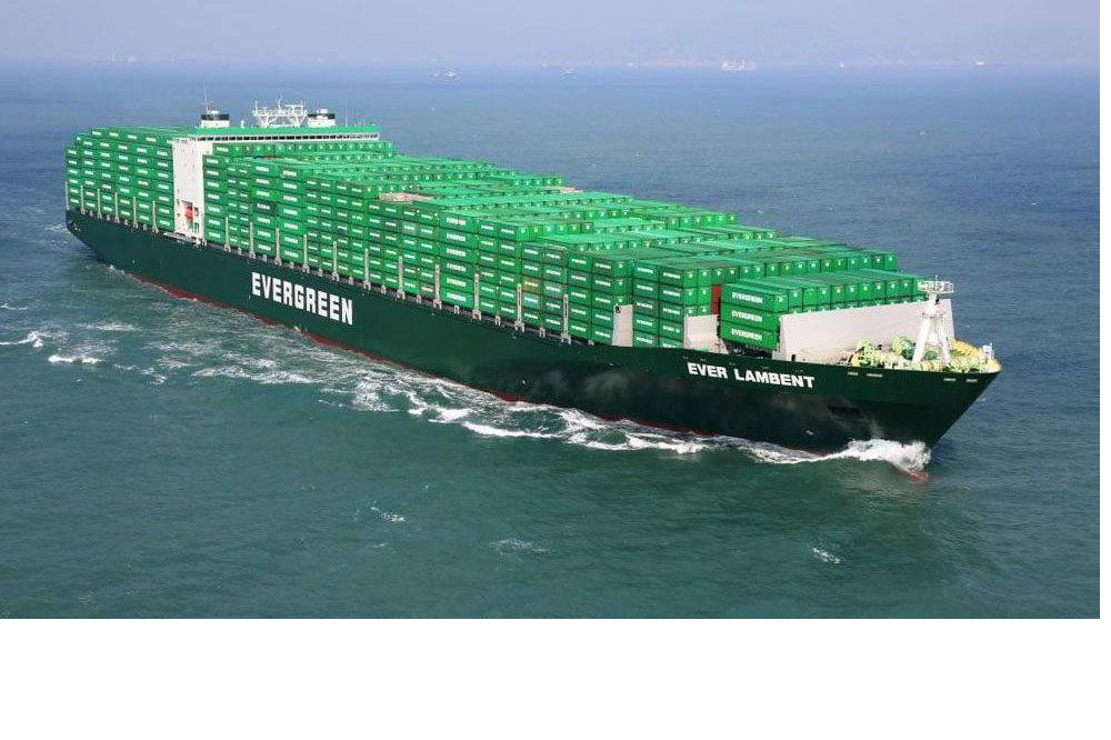 Evergreen has added around 6,000 TEU in extra capacity to its China to Europe service that it operates as part of the Ocean Alliance. Credit:  facebook.com/evergreenmarinecorp .