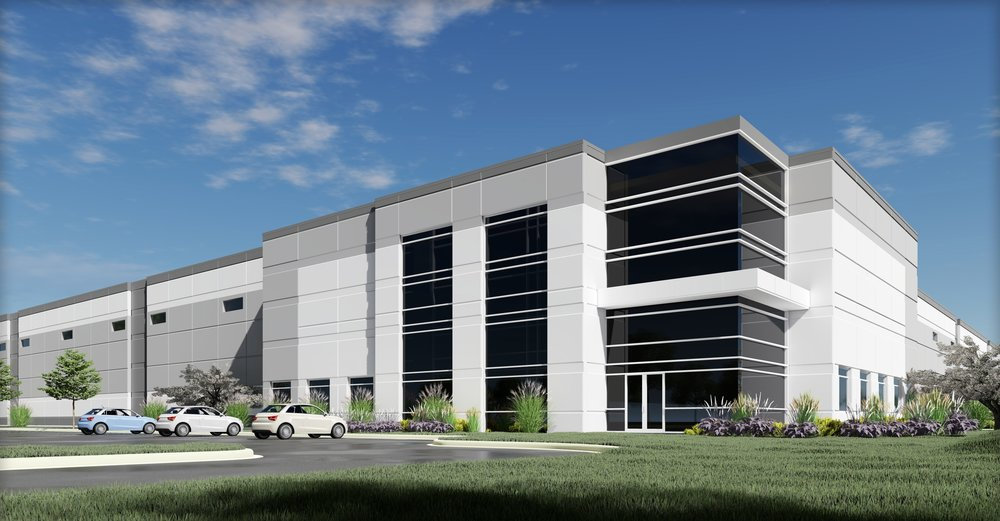 A rendering of the proposed logistics complex in Country Club Hills, Ill. (Photo: LPC)