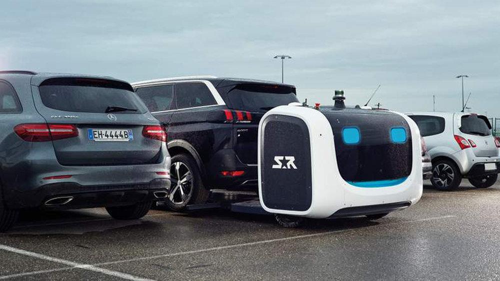 A Stanley Robotics droid parks a car. Credit:  prhandout.com