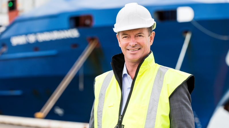 Ports of Auckland CEO, Tony Gibson (pictured), says that hydrogen could be a fuel source for the heavy vehicles in the port. (Photo: Ports of Auckland)
