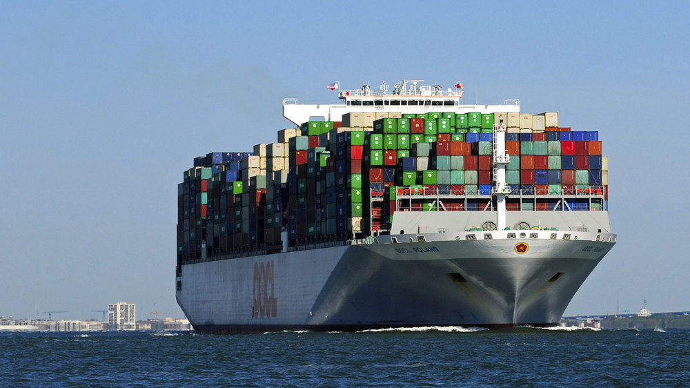 Continuing ultra-large container ship deliveries will mean that pressure will remain on freight rates up to 2022. Credit: South Carolina Ports Authority.