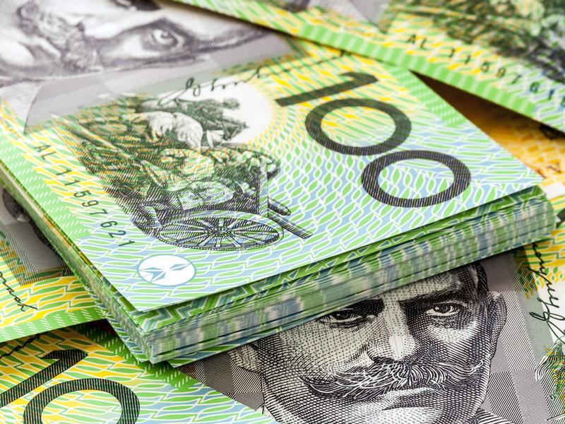 Australia money dollars 100s green hundreds - stock - shutterstock_357066083.jpg