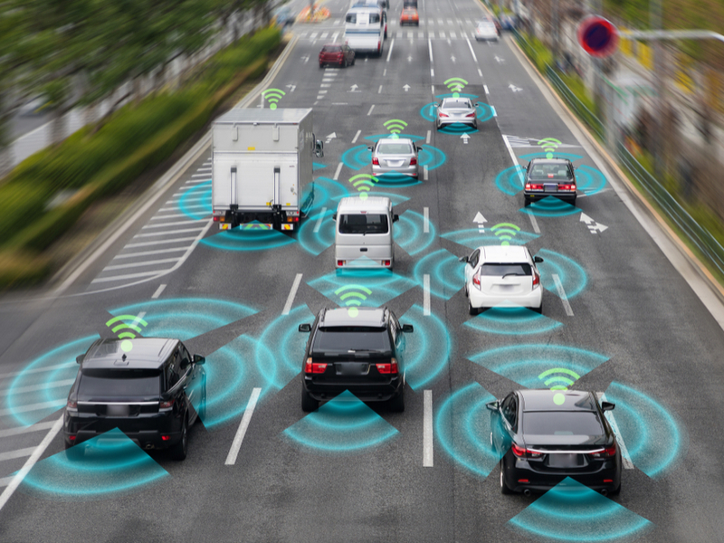 Baraja raised U.S.$35m from venture capitalists to commercialize lidar technology that grants sight to machines. It's a critical step on the path to helping vehicles drive themselves. Pictured: an artist's impression of cars sensing their environment.  Photo / graphic - Shutterstock.